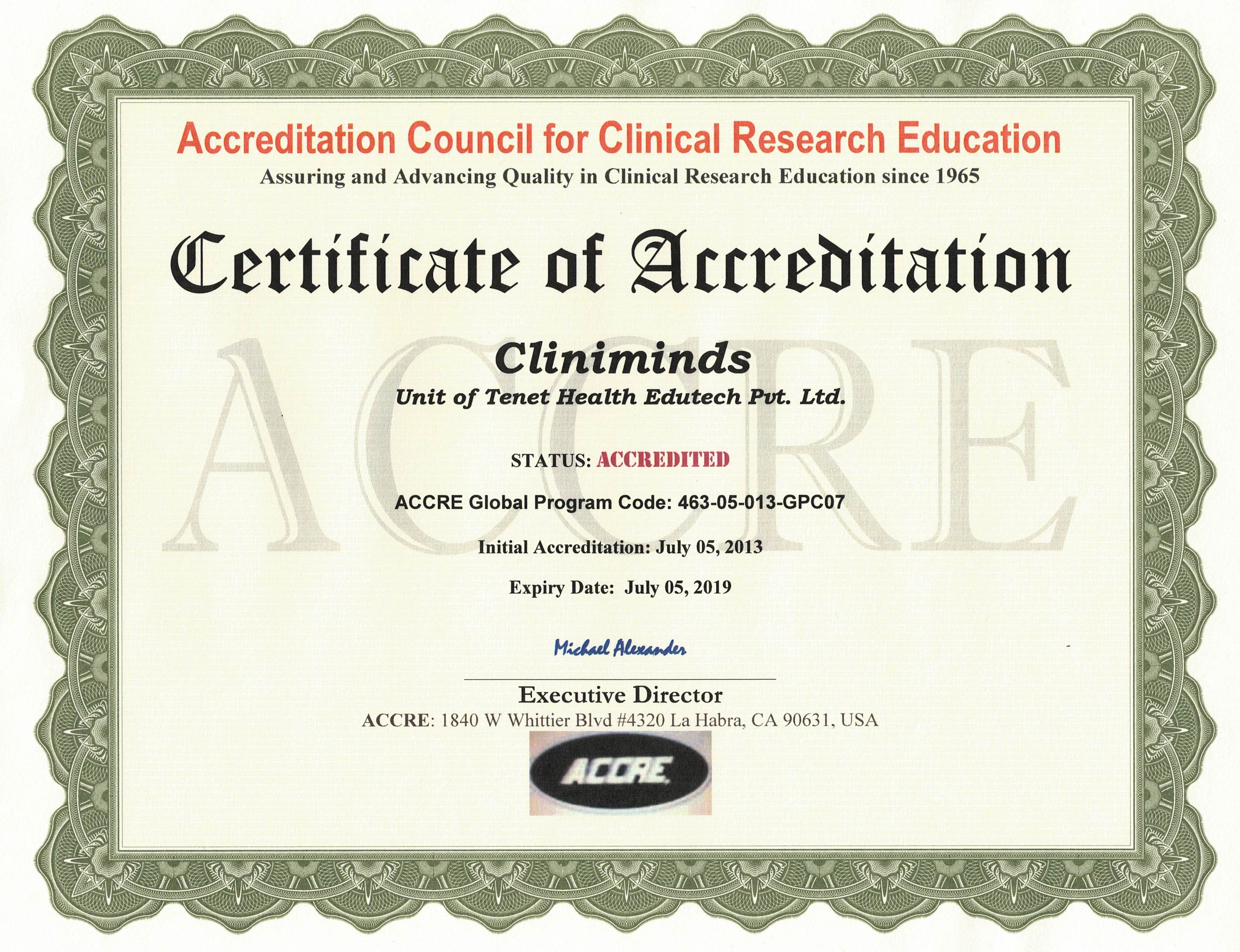 Cliniminds : ISO 9001:2015 Certified Clinical Research